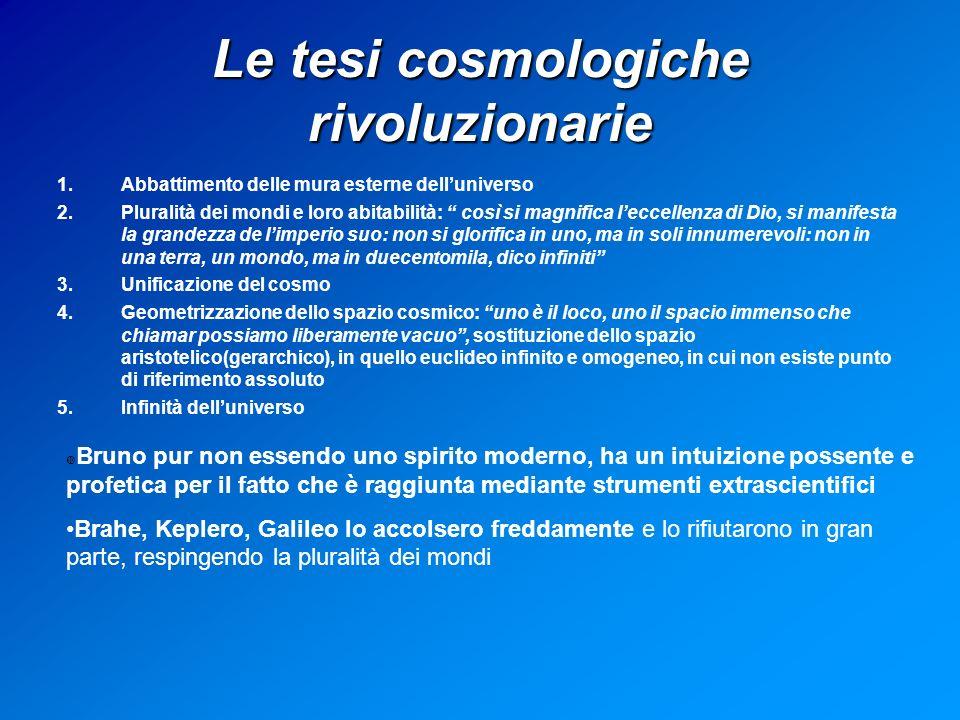 Le tesi cosmologiche rivoluzionarie