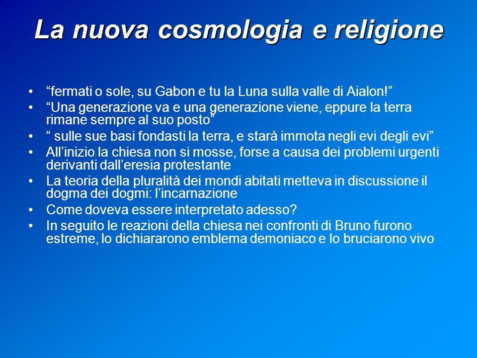 La nuova cosmologia e religione