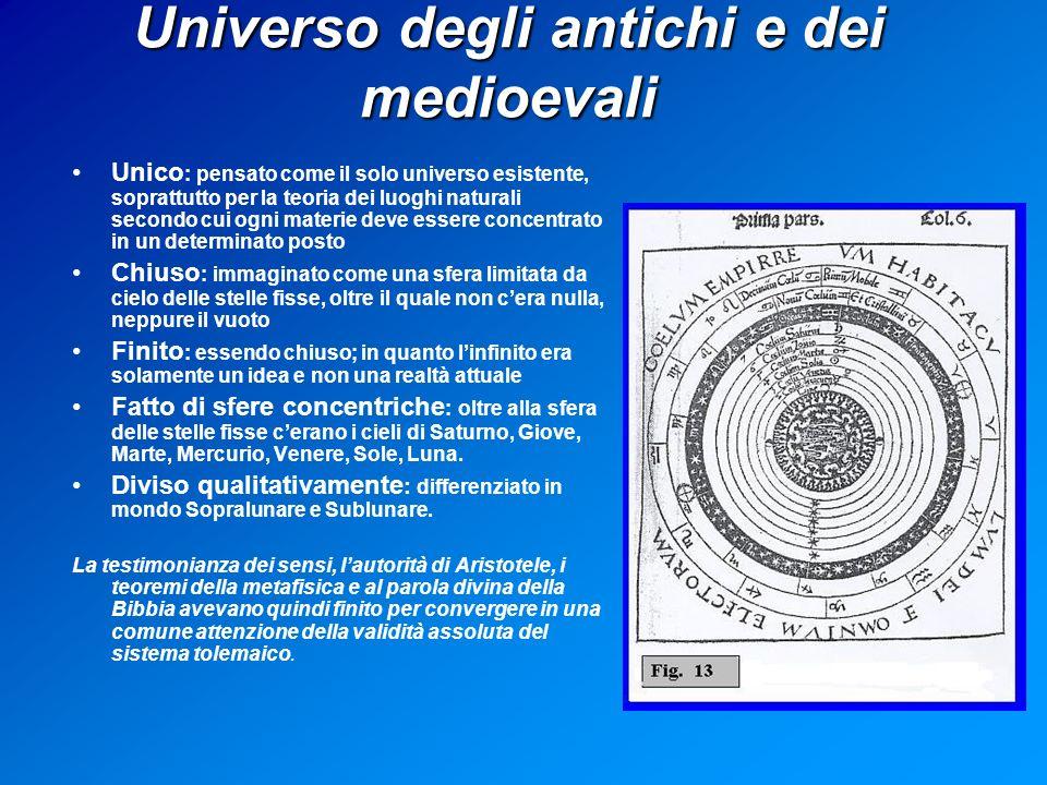 Universo degli antichi e dei medioevali