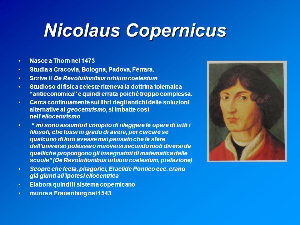 Nicolaus Copernicus Nasce a Thorn nel 1473