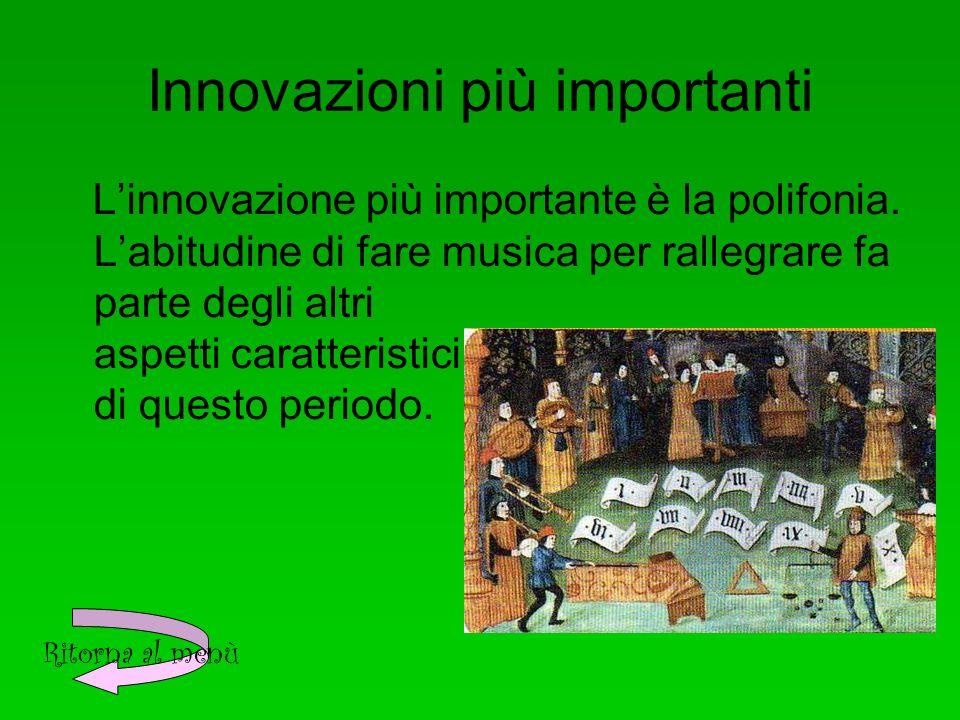 Innovazioni più importanti