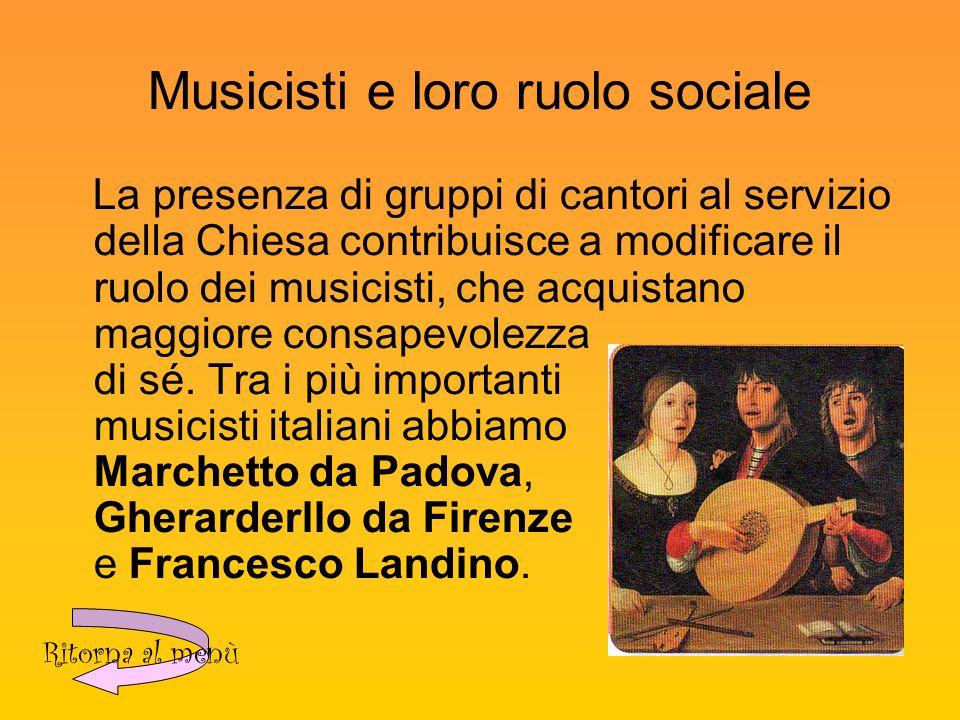 Musicisti e loro ruolo sociale