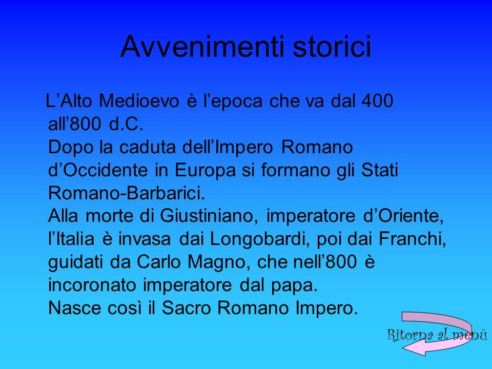 Avvenimenti storici