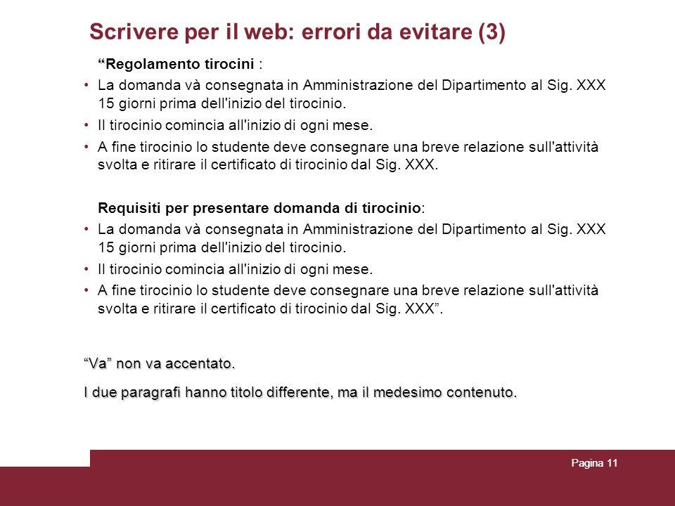 Scrivere per il web: errori da evitare (3)
