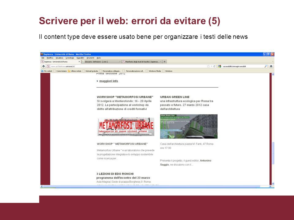 Scrivere per il web: errori da evitare (5)
