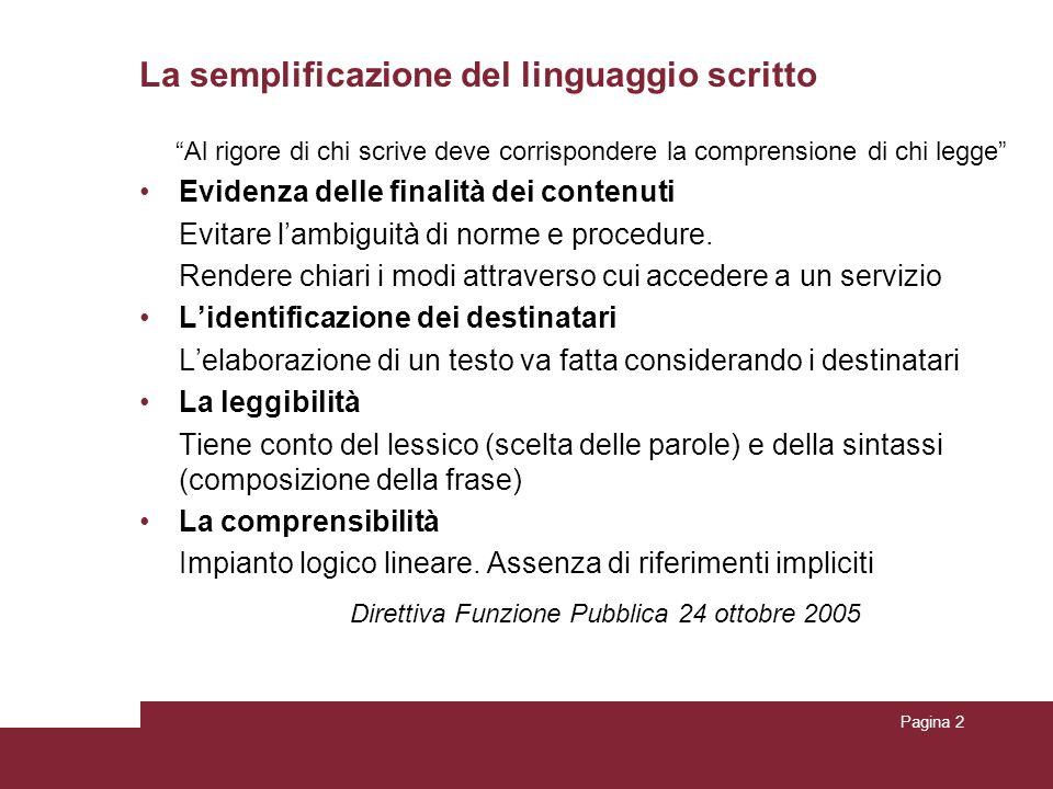 La semplificazione del linguaggio scritto