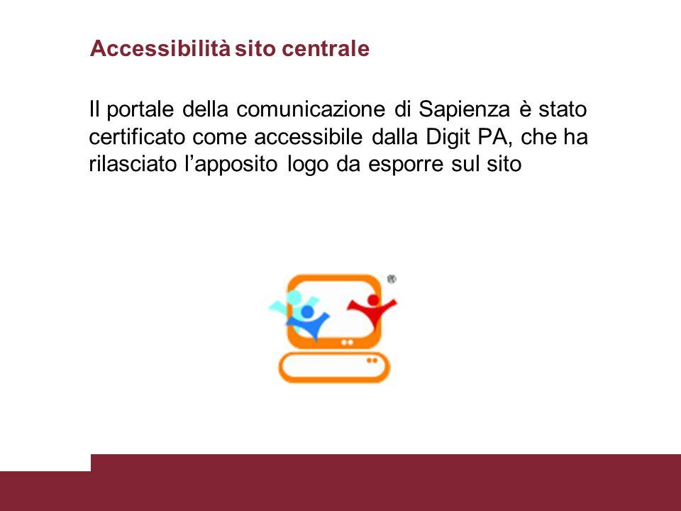 Accessibilità sito centrale