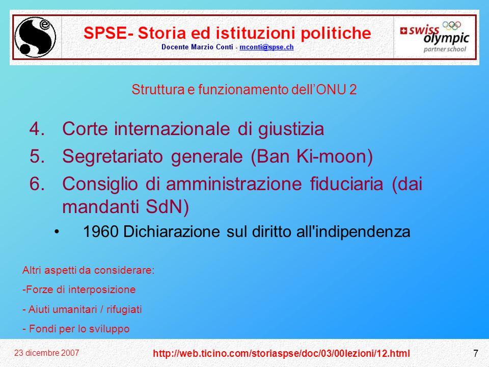 Struttura e funzionamento dell'ONU 2