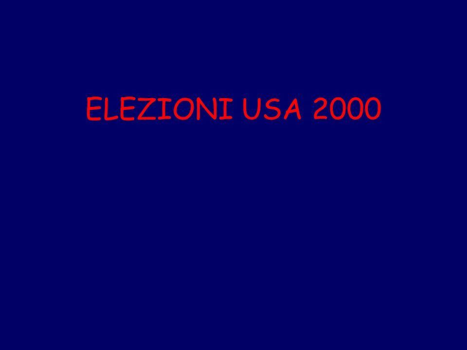 ELEZIONI USA 2000