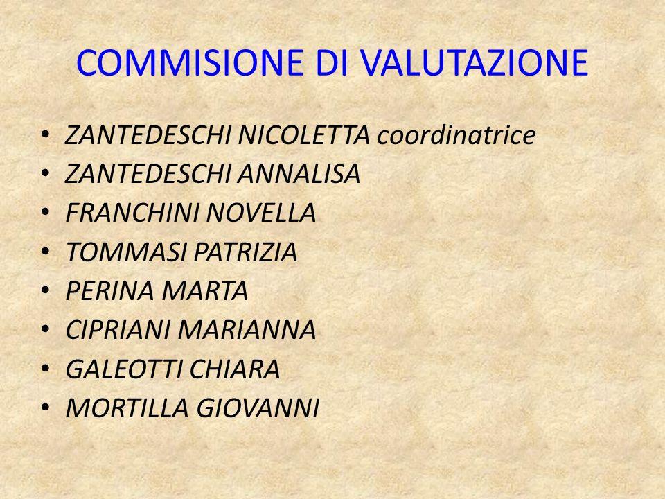 COMMISIONE DI VALUTAZIONE