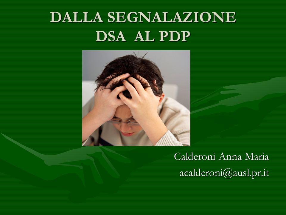 DALLA SEGNALAZIONE DSA AL PDP