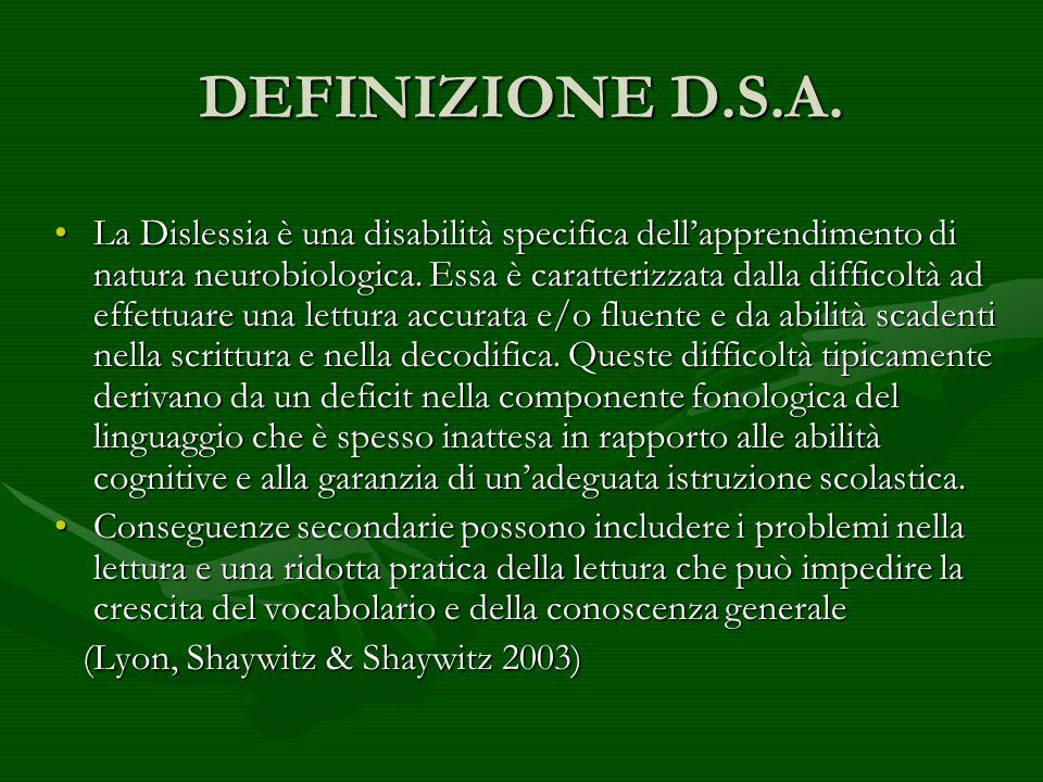 DEFINIZIONE D.S.A.
