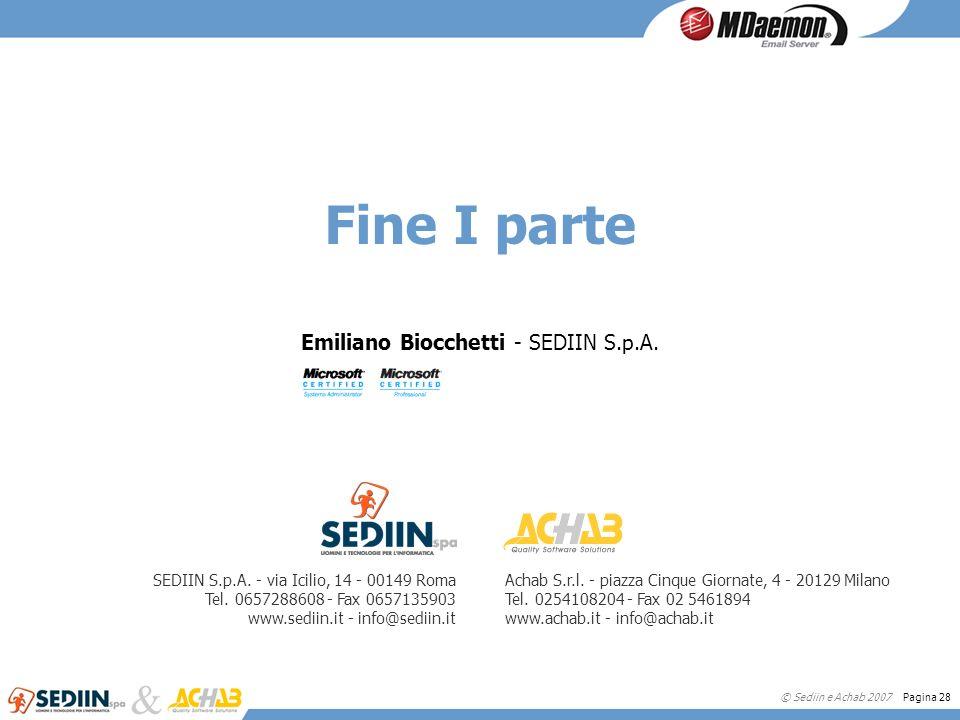 Emiliano Biocchetti - SEDIIN S.p.A.