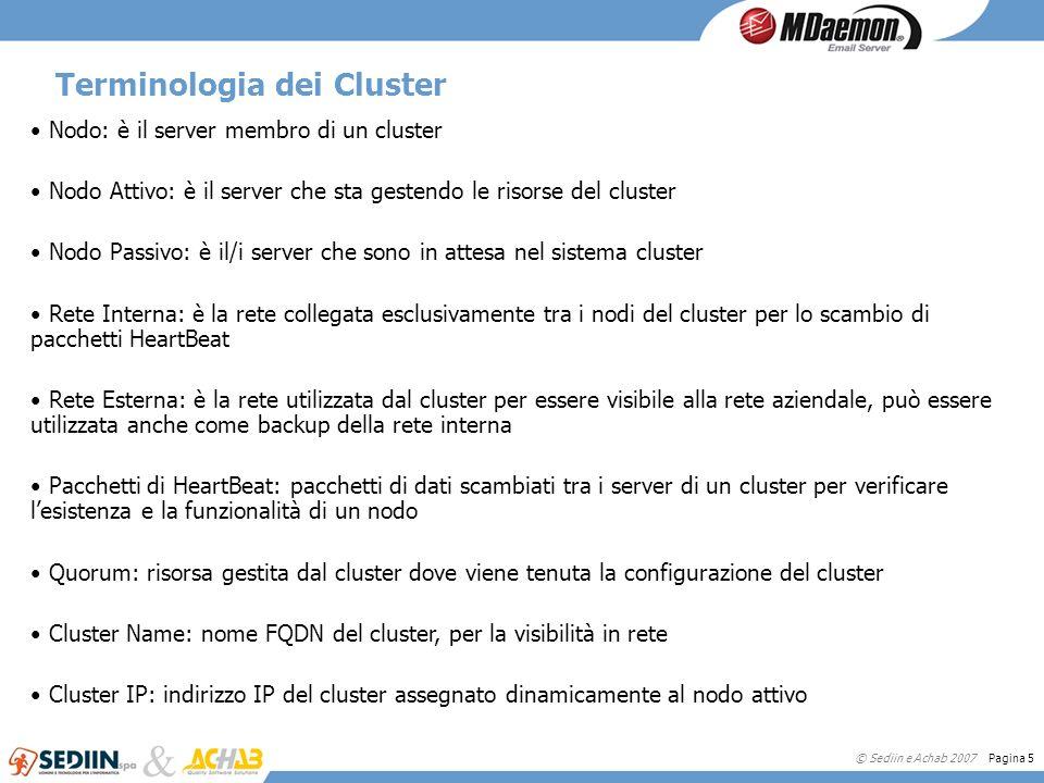 Terminologia dei Cluster