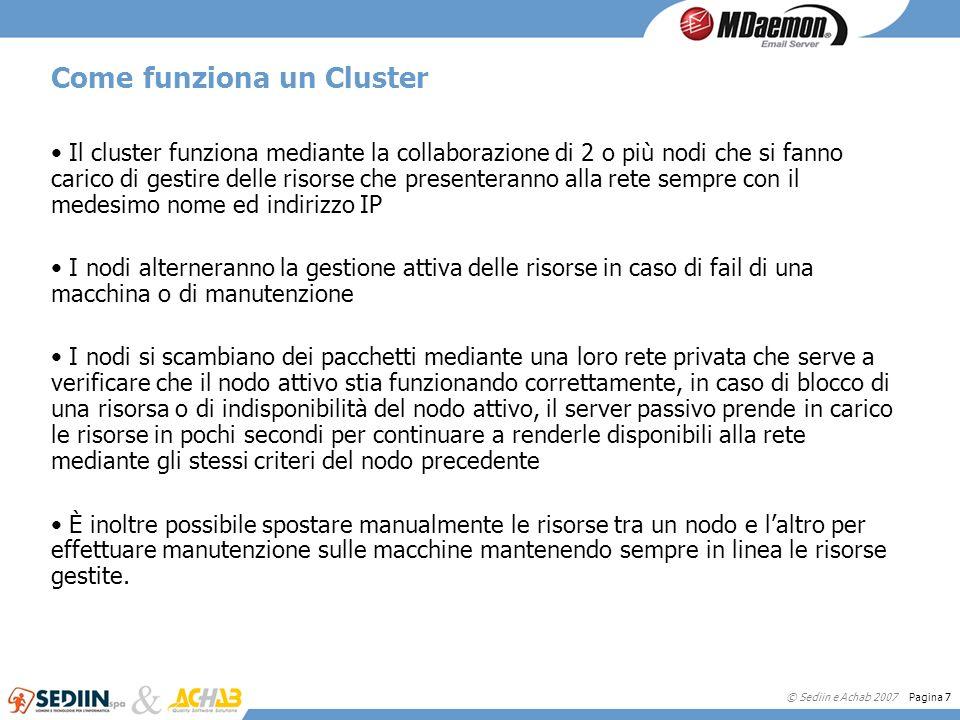 Come funziona un Cluster