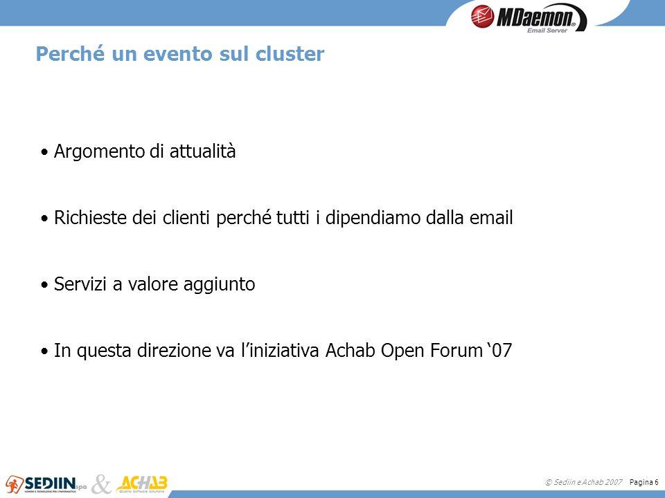 Perché un evento sul cluster