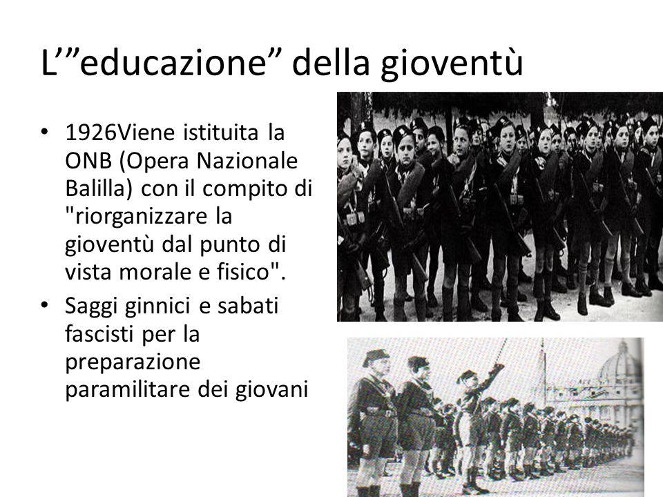 L' educazione della gioventù
