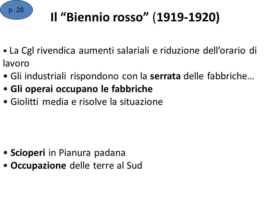 p. 28 Il Biennio rosso (1919-1920)