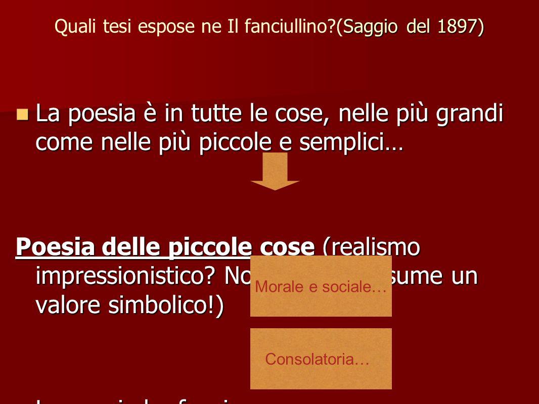 Quali tesi espose ne Il fanciullino (Saggio del 1897)