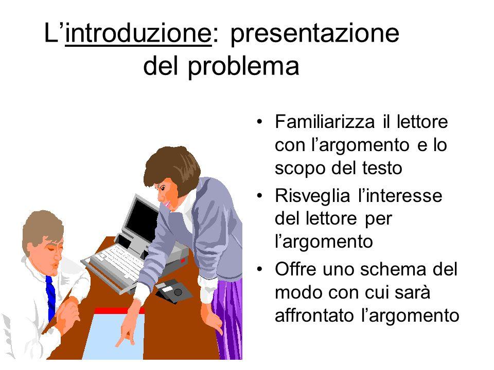 L'introduzione: presentazione del problema