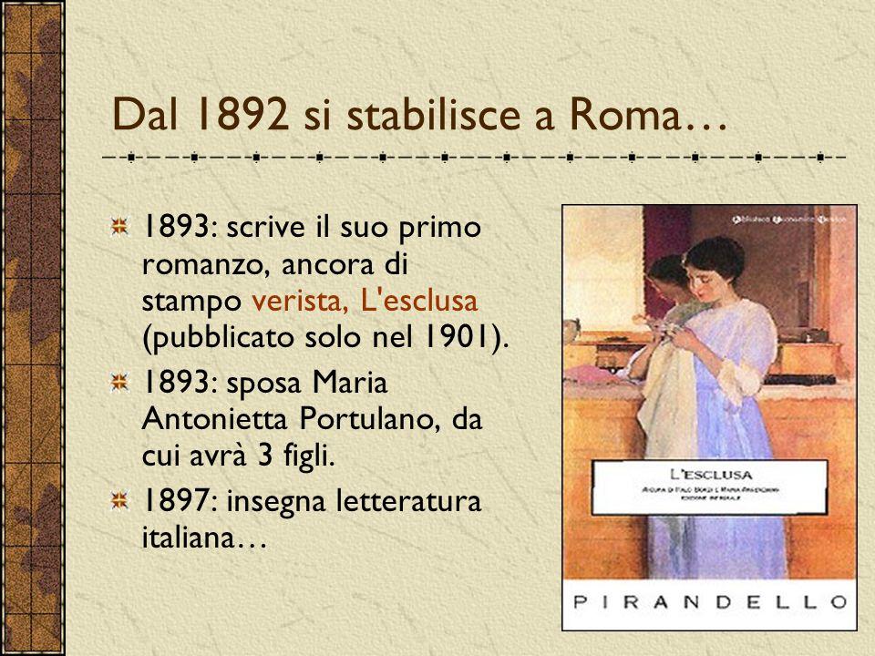 Dal 1892 si stabilisce a Roma…
