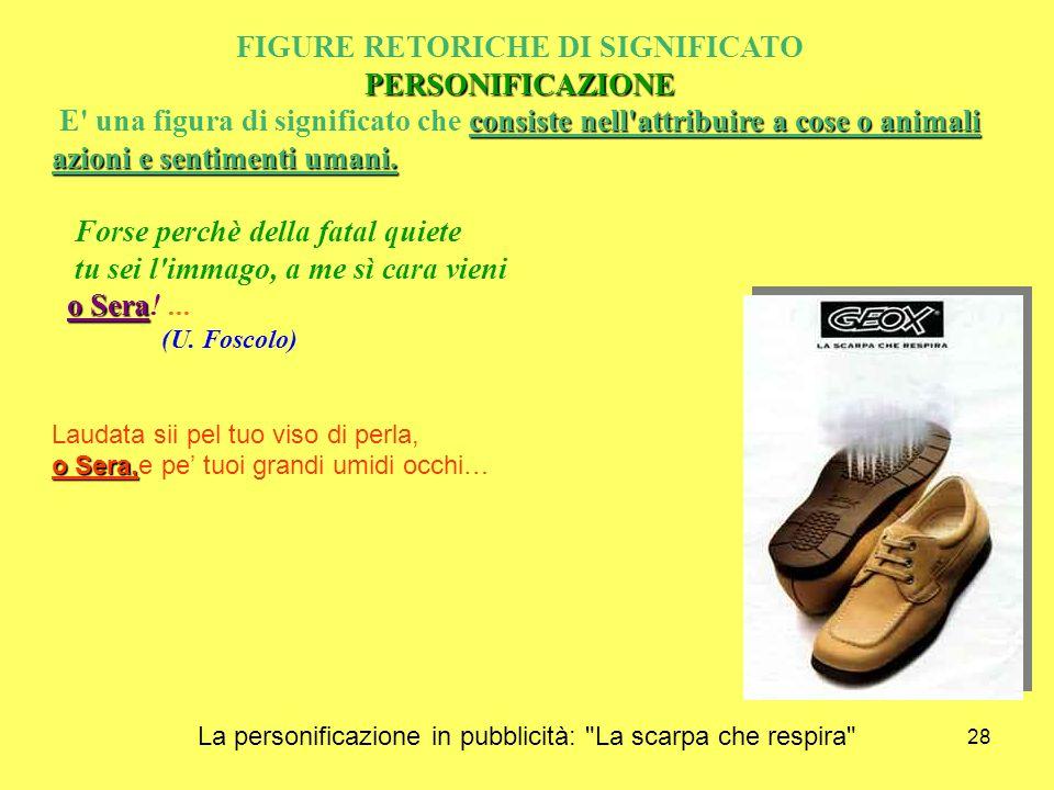 La personificazione in pubblicità: La scarpa che respira