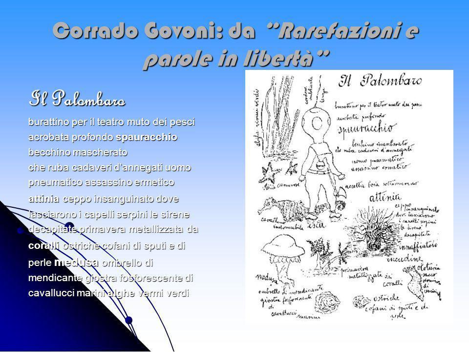 Corrado Govoni: da Rarefazioni e parole in libertà
