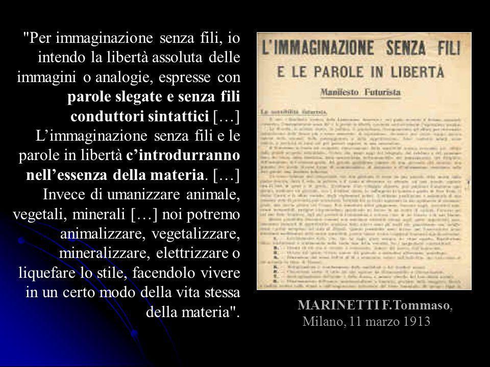 MARINETTI F.Tommaso, Milano, 11 marzo 1913