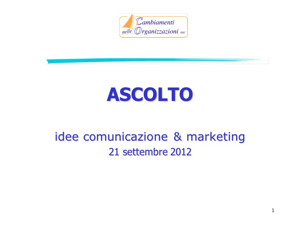 idee comunicazione & marketing 21 settembre 2012