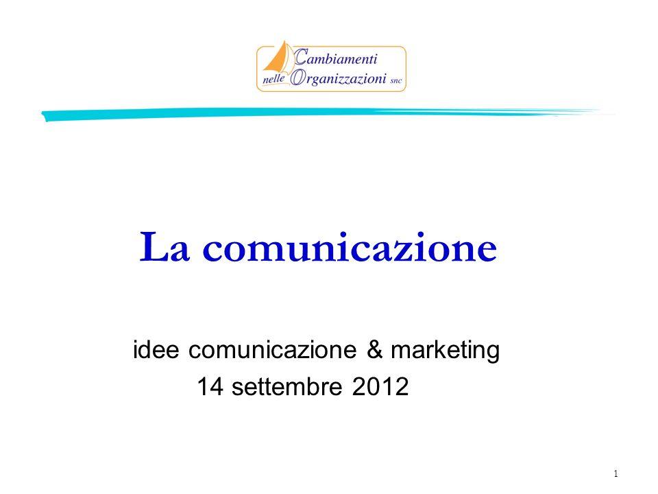 idee comunicazione & marketing 14 settembre 2012