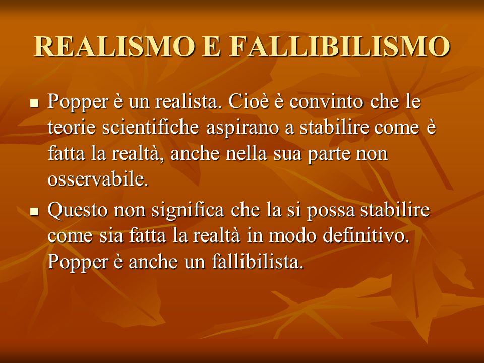 REALISMO E FALLIBILISMO
