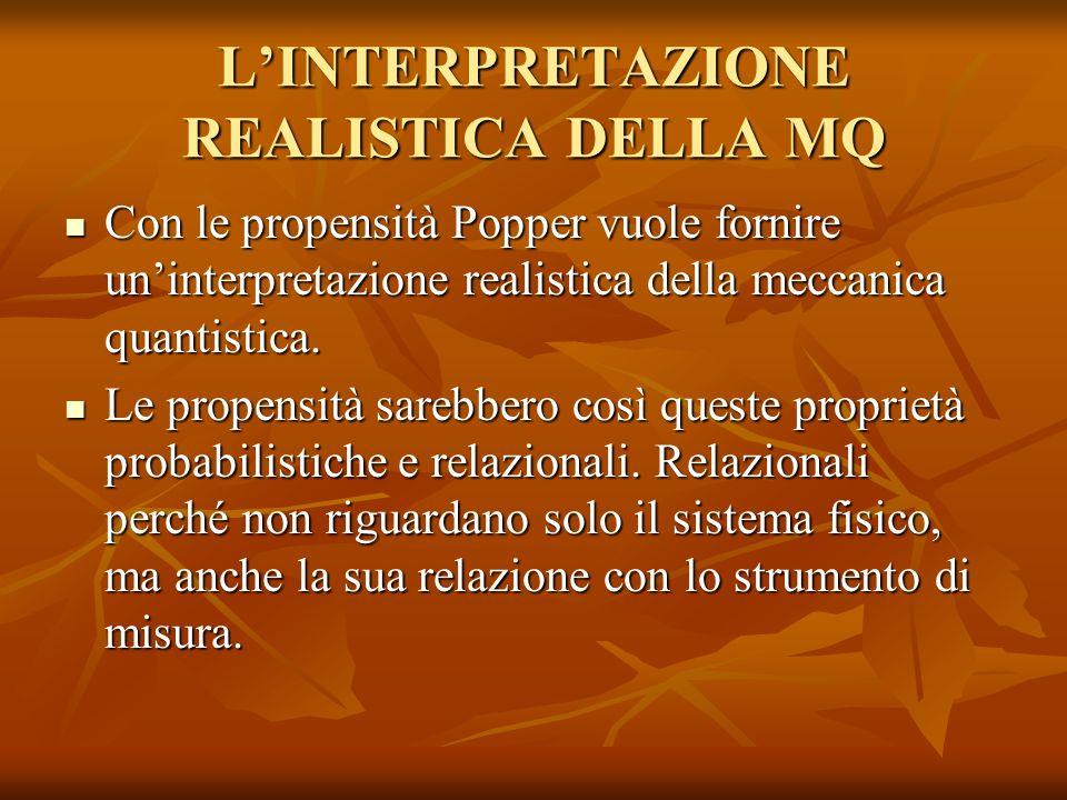 L'INTERPRETAZIONE REALISTICA DELLA MQ