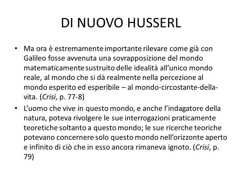 DI NUOVO HUSSERL