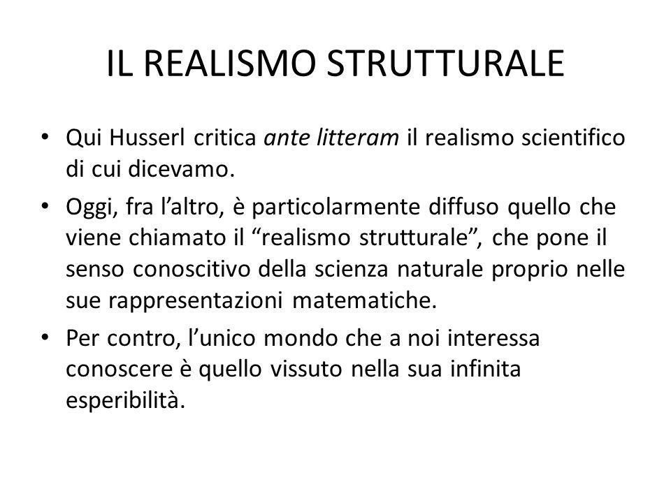 IL REALISMO STRUTTURALE