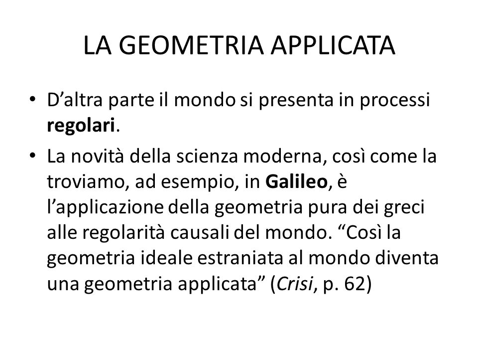 LA GEOMETRIA APPLICATA