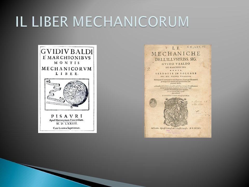IL LIBER MECHANICORUM