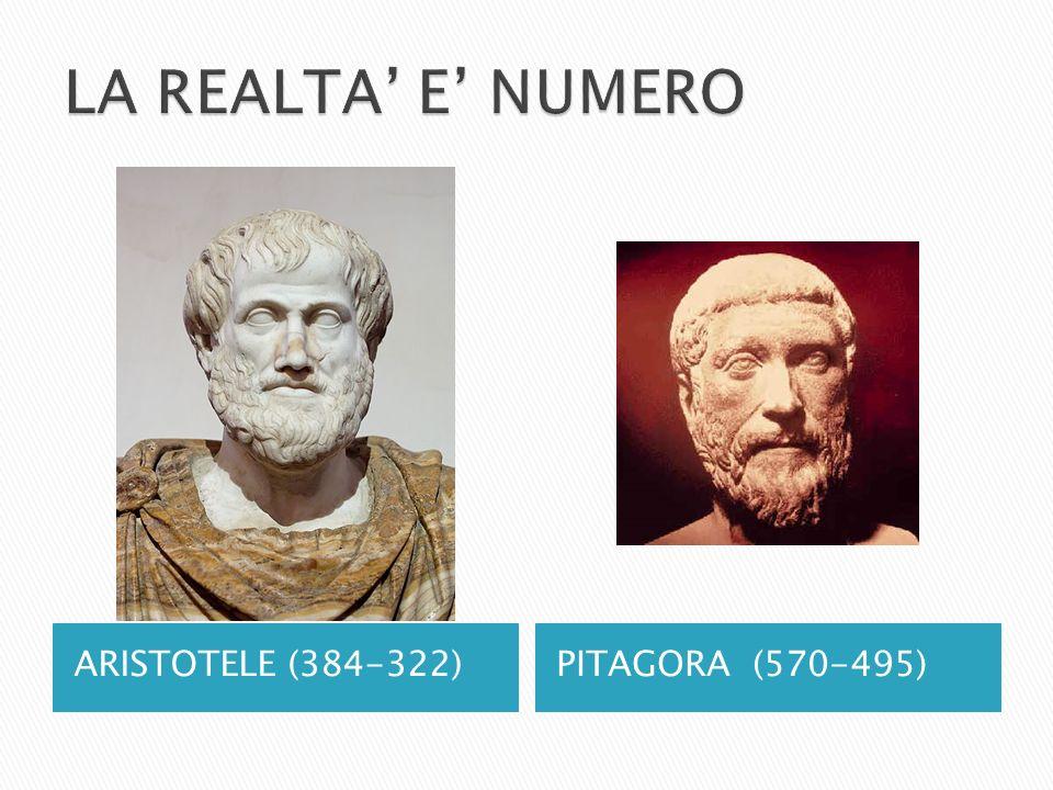 LA REALTA' E' NUMERO ARISTOTELE (384-322) PITAGORA (570-495)