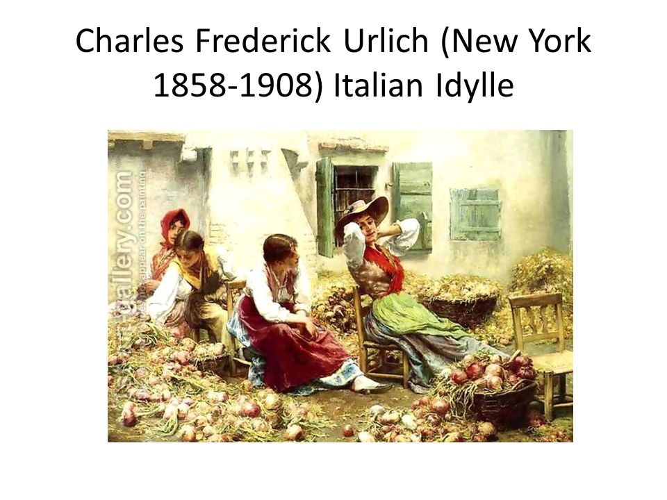 Charles Frederick Urlich (New York 1858-1908) Italian Idylle