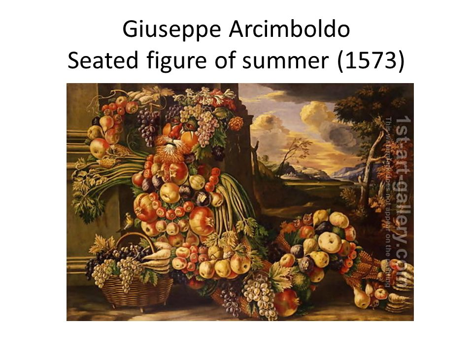 Giuseppe Arcimboldo Seated figure of summer (1573)