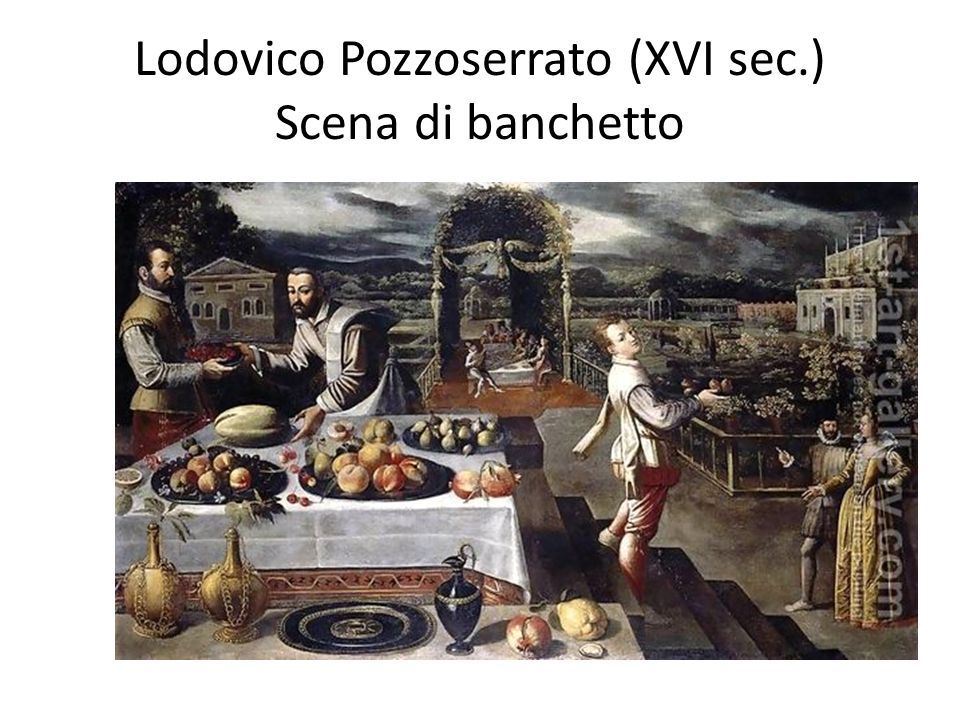 Lodovico Pozzoserrato (XVI sec.) Scena di banchetto