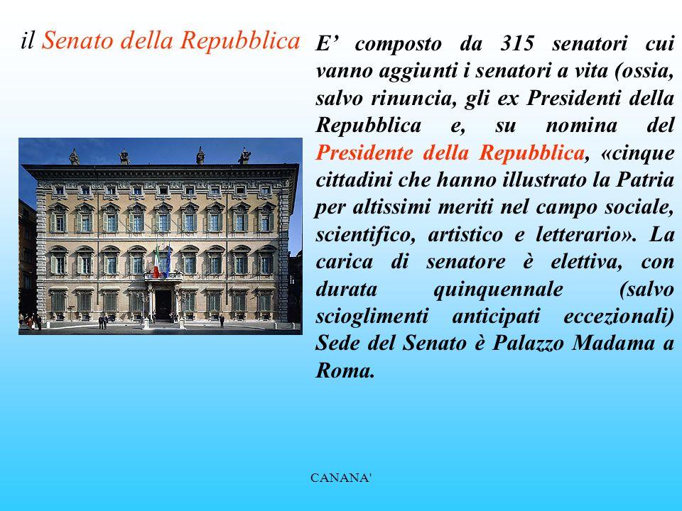 La struttura della costituzione italiana ppt video for Senato della repubblica