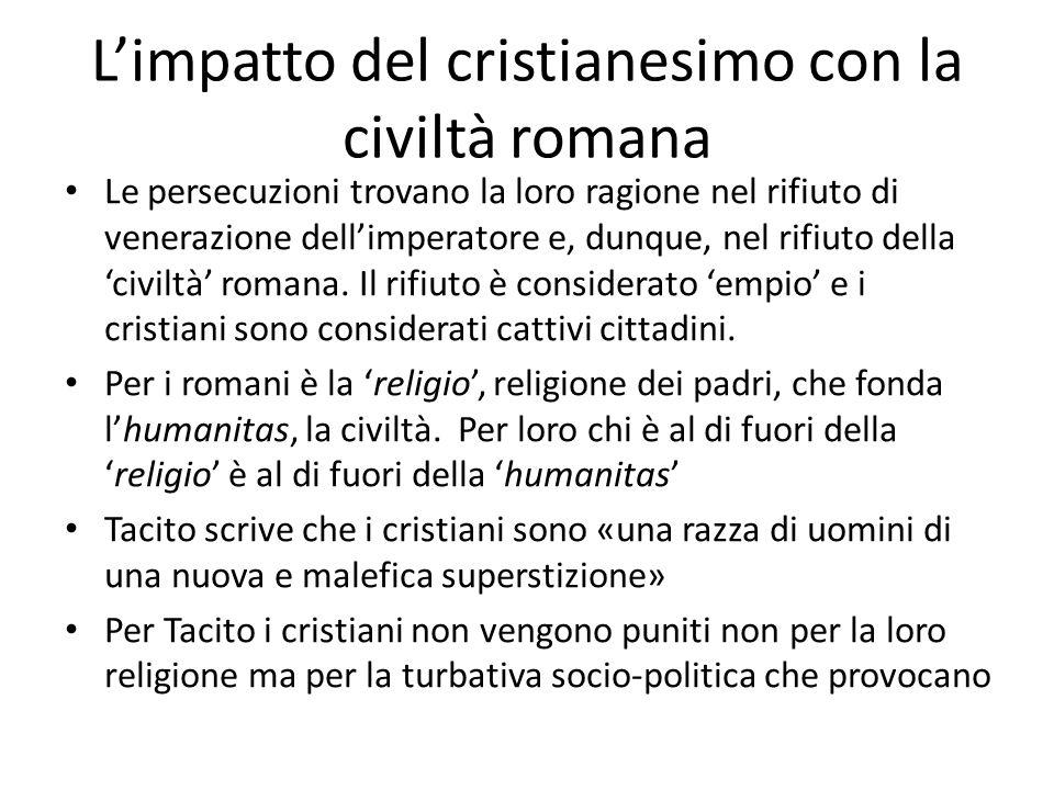 L'impatto del cristianesimo con la civiltà romana