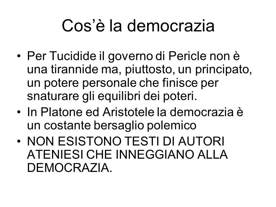 Cos'è la democrazia