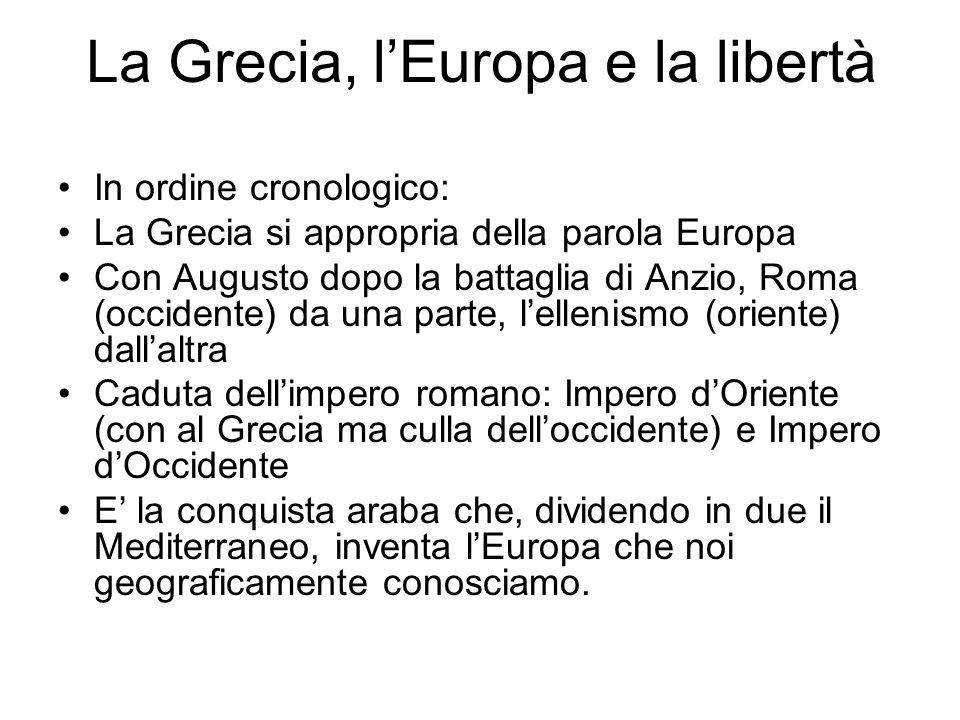 La Grecia, l'Europa e la libertà