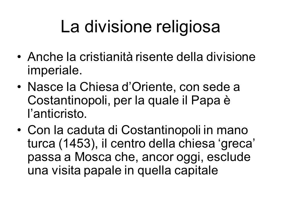 La divisione religiosa