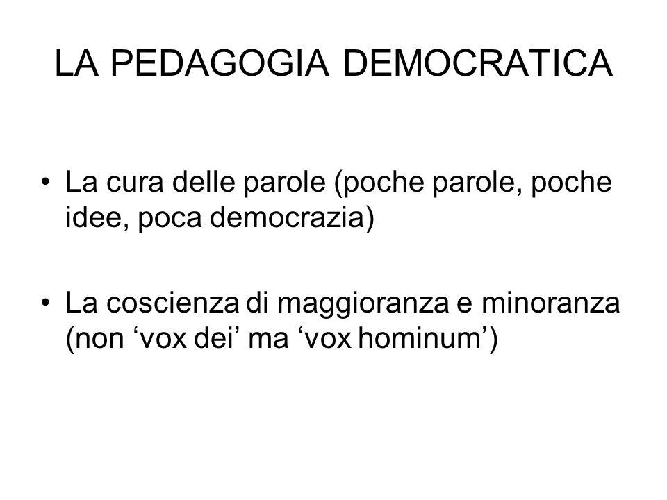 LA PEDAGOGIA DEMOCRATICA