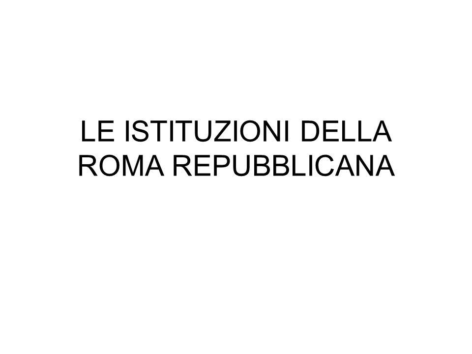 LE ISTITUZIONI DELLA ROMA REPUBBLICANA