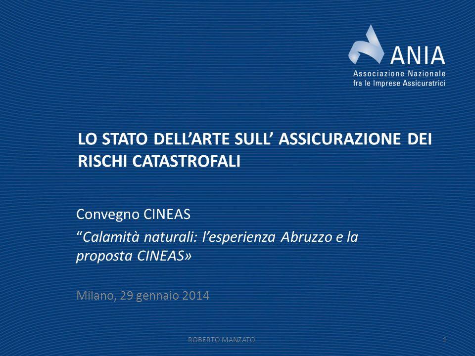 LO STATO DELL'ARTE SULL' ASSICURAZIONE DEI RISCHI CATASTROFALI
