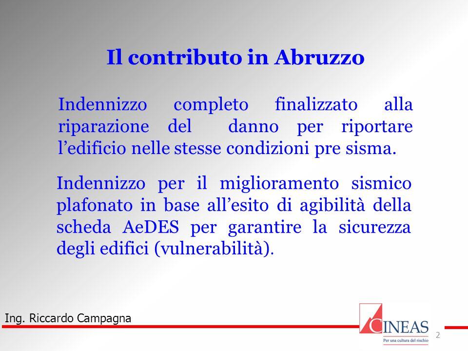 Il contributo in Abruzzo