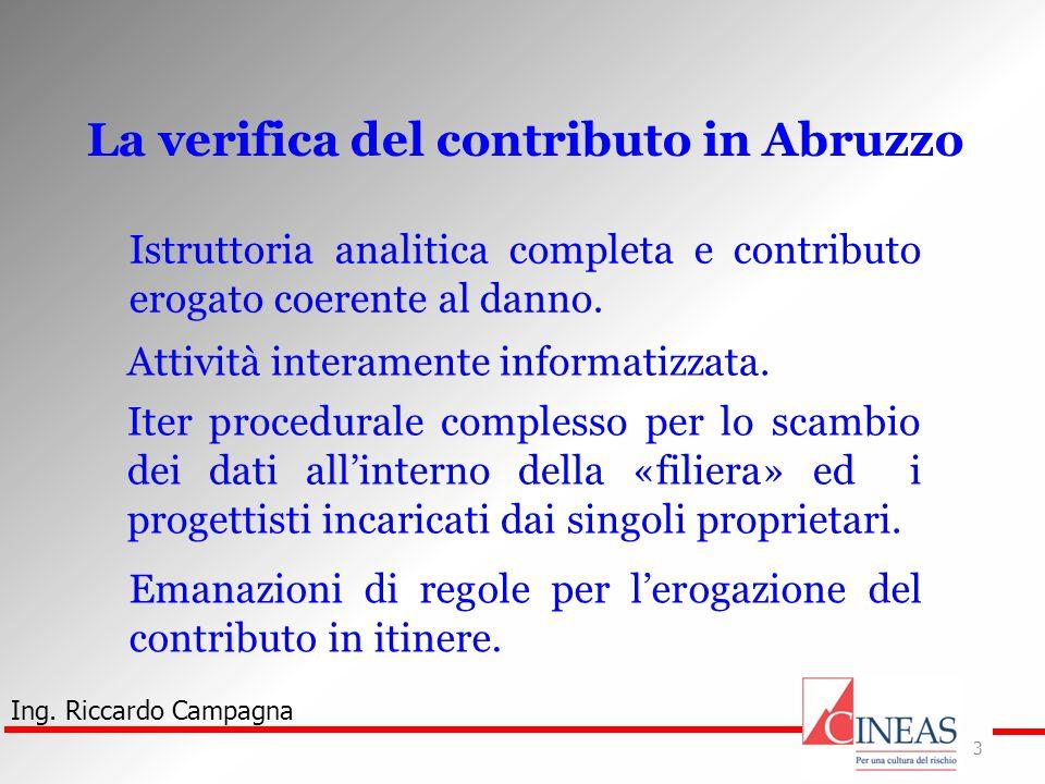 La verifica del contributo in Abruzzo